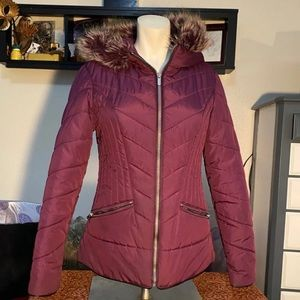 Form Fitting Parka with Faux Fur Lined Hood